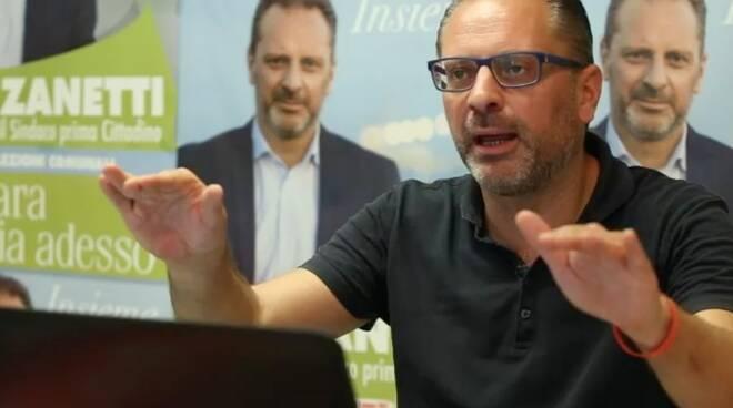 Andrea Zanetti in conferenza stampa.