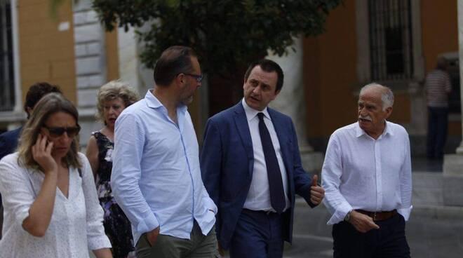 Ettore Rosato a fianco di Andrea Zanetti.