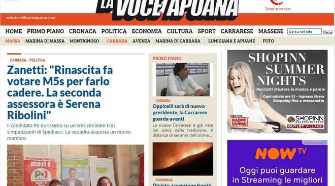 Screenshot Voce Apuana