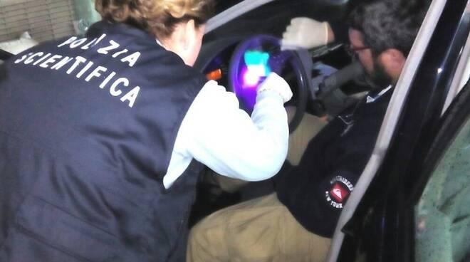 Controllo della polizia scientifica