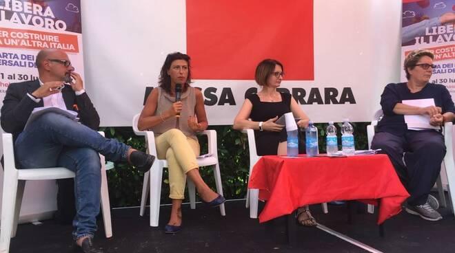 Da sinistra: Michele Vannini, Maria Rita Micheli, Federica Bigini, Daniela Cappelli