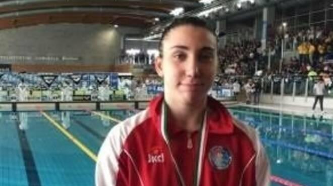 Gaia Giovannoni, una promessa del nuoto