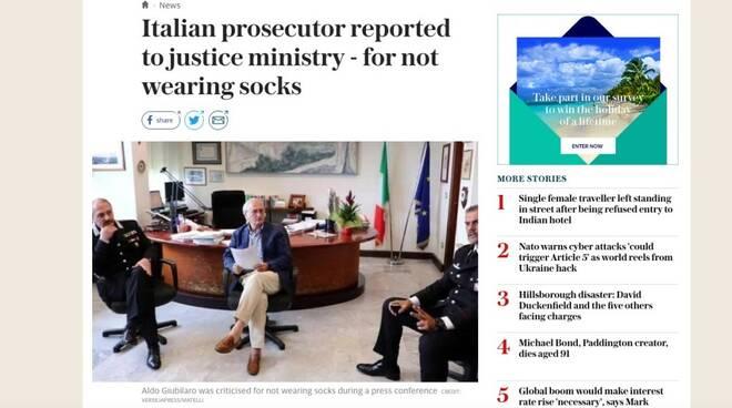 L'articolo del Telegraph su Aldo Giubilaro
