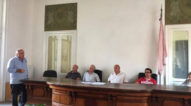 La conferenza stampa presso la sede della pubblica asisstenza