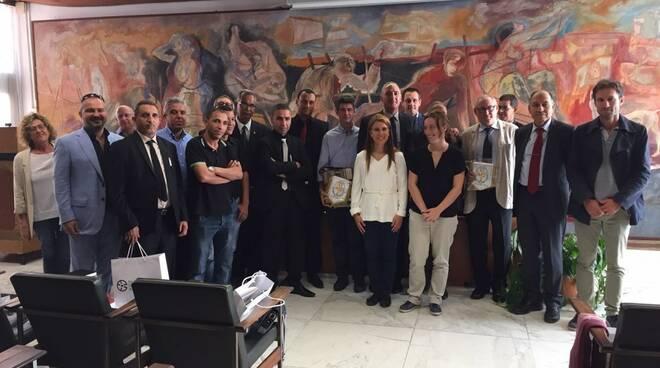 La delegazione tunisina accolta in comune