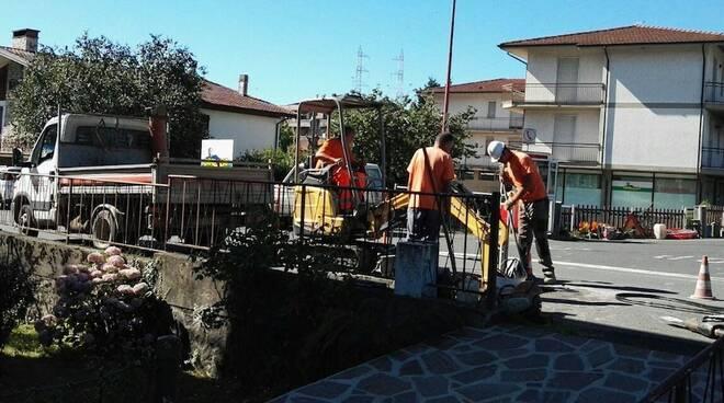 Lavori acquedotto Pontremoli