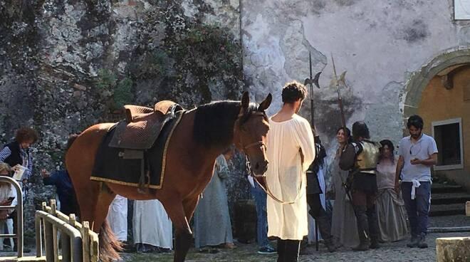 Le riprese del film al castello