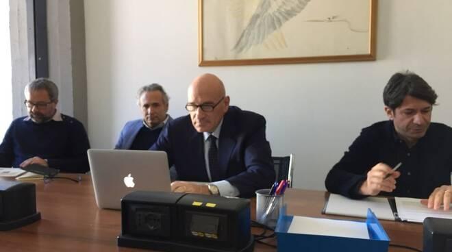 Luca Figari e Fabio Felici in commissione marmo