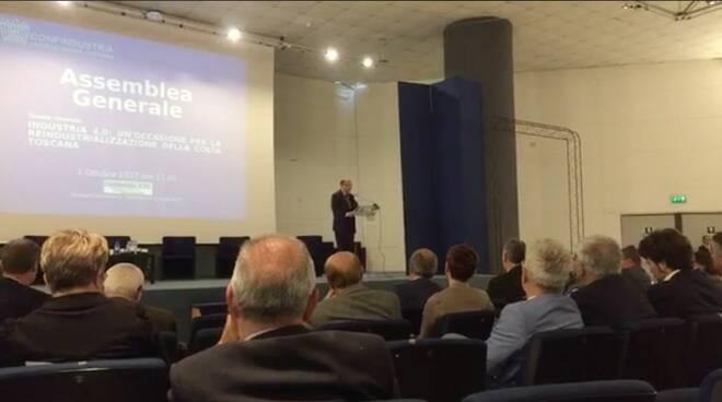 Vincenzo Boccia all'assemblea generale di Confindustria