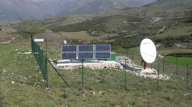 Una stazione di monitoraggio sismisco