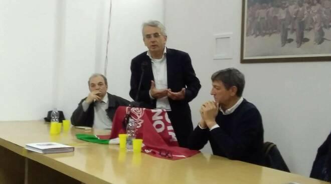 Il sottosegretario alla giustizia Cosimo Ferri con Angelo Zubbani e Roberto Nicoli
