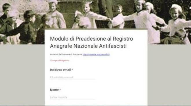 L'anagrafe nazionale antifascista promosso dal Comune di Sant'Anna di Stazzema