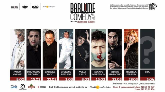 Locandina Bar Lume Comedy Show