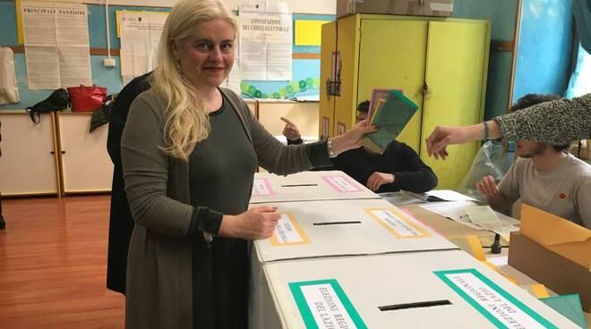 Chiara Geloni (LeU) al voto