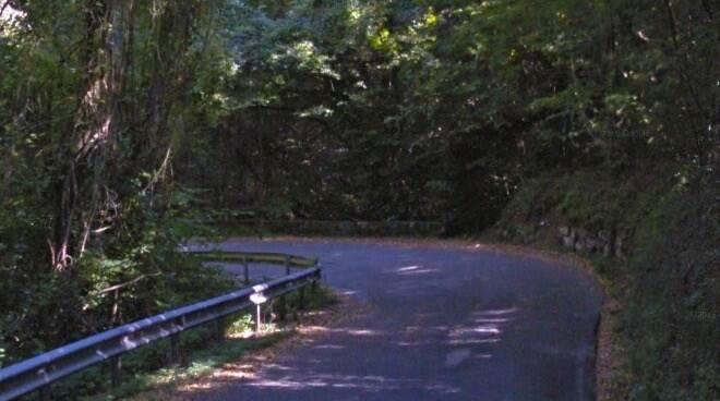 Una curva del tratto della Strada Provinciale 16