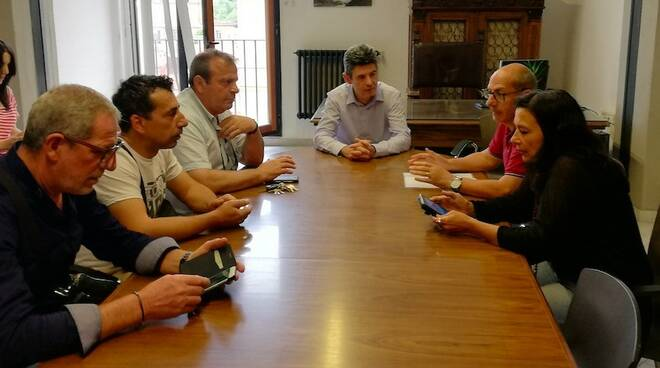 Incontro sindaco De Pasquale-sindacati