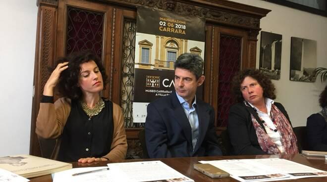 L'assessora Forti in conferenza stampa