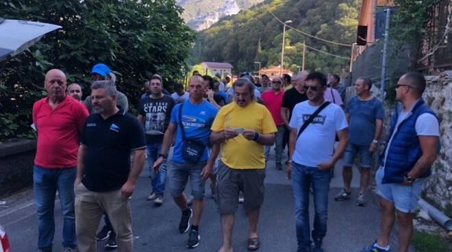 Cavatori in sciopero (29/06/2018)