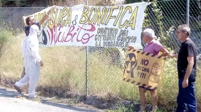 Manifestazione contro la discarica di Cava Fornace (04/07/2018)