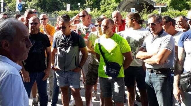Sciopero cavatori per il rinnovo del contratto integrativo (luglio 2018)