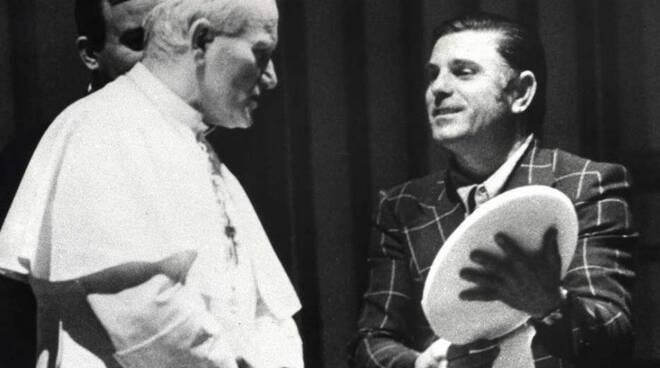 Papa Giovanni Paolo II e Luciano Monfroni