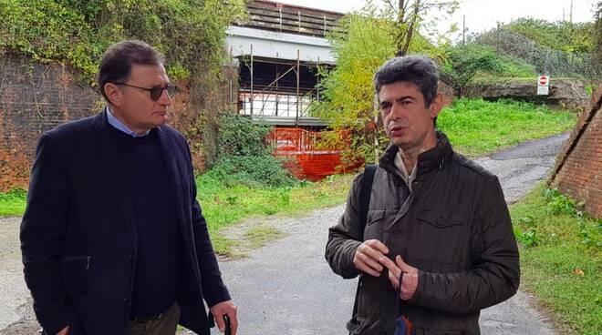 Francesco Leonardi e il sindaco Francesco De Pasquale