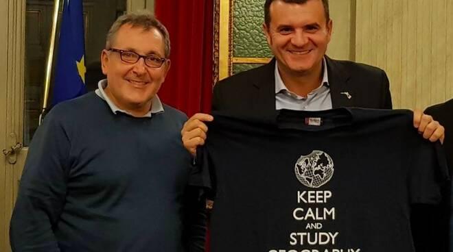 Riccardo Canesi e il ministro dell'agricoltura Gian Marco Centinaio