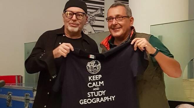 Vasco Rossi col prof. Riccardo Canesi