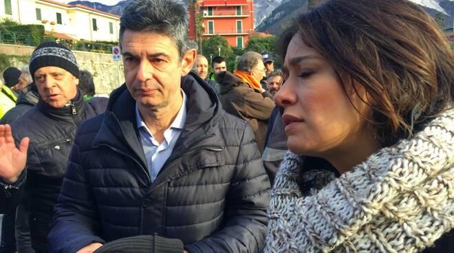 Il sindaco Francesco De Pasquale e l'inviata di Agorà Sara Mariani