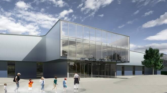 Un rendering del nuovo complesso scolastico
