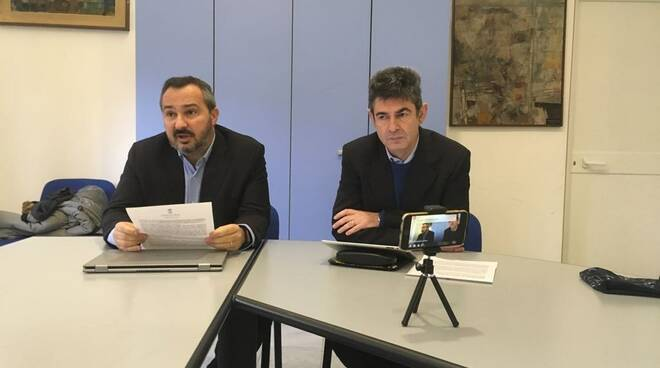 L'assessore Andrea Raggi e il sindaco Francesco De Pasquale