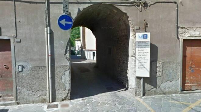 L'ingresso del distretto sanitario di Pontremoli