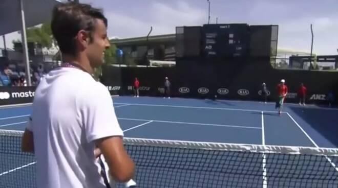Lorenzo Musetti dopo la vittoria in semifinale agli Australian Open