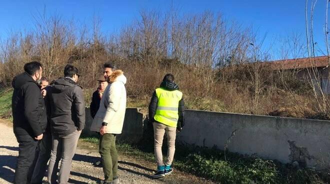 Uno dei sopralluoghi del sindaco Valettini con Anas