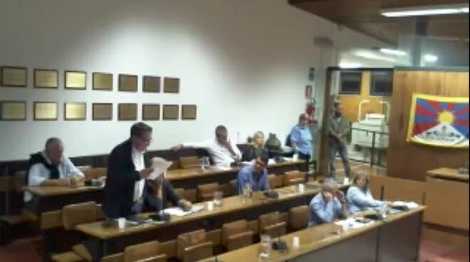 Gianenrico Spediacci durante l'interrogazione