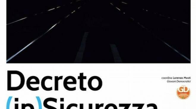 """La locandina dell'evento """"Decreto (in)sicurezza"""""""