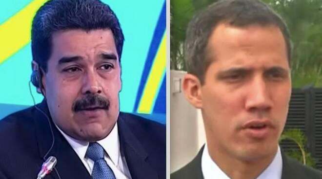 Nicolas Maduro e Juan Guaidò