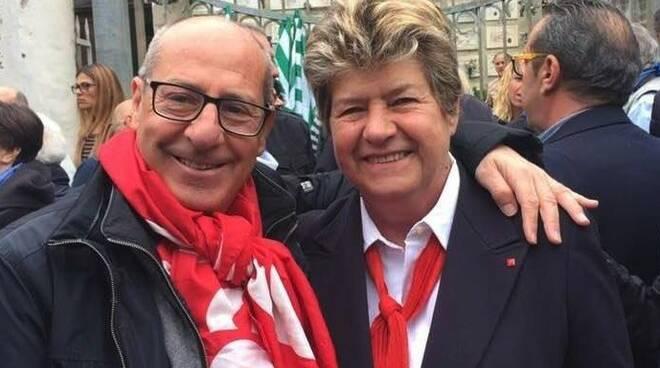 Paolo Gozzani con Susanna Camusso