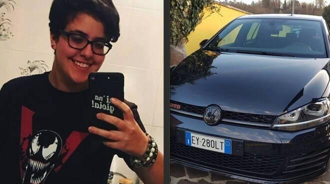 Camilla Scaletti e l'auto con cui sarebbe fuggita
