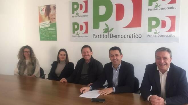 Conferenza stampa del partito democratico