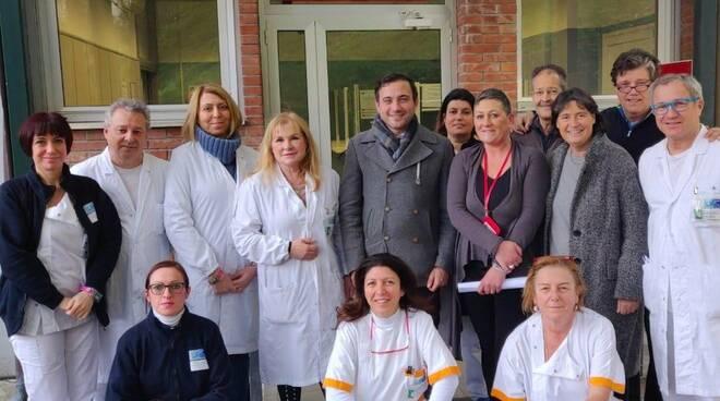 Giacomo Bugliani e Stefania Saccardi a Medicina Nucleare di Massa