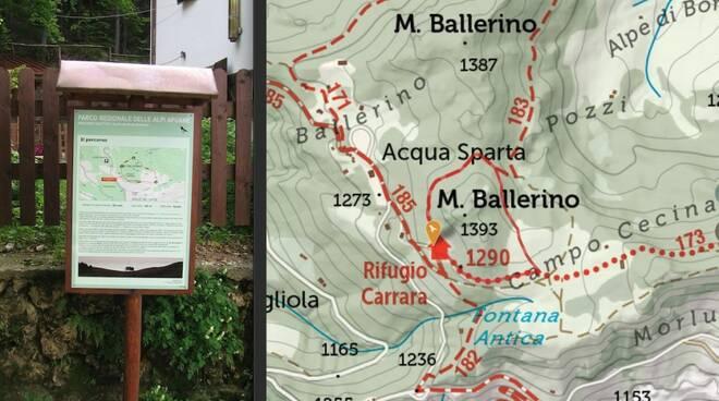 Il sentiero del monte Ballerino