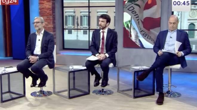 Roberto Giachetti, Maurizio Martina, Nicola Zingaretti