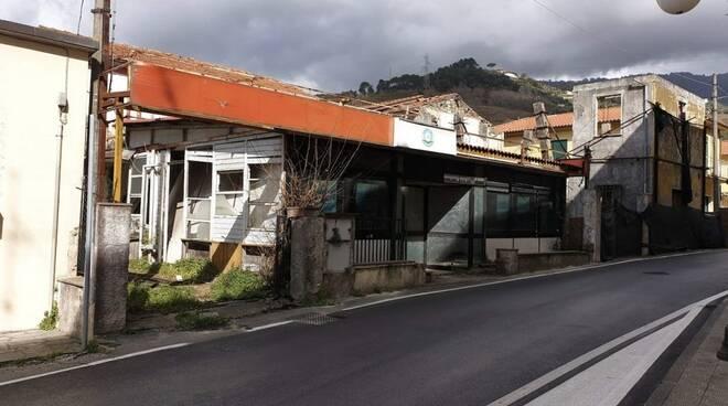 Via Roma nella frazione di Capanne a Montignoso