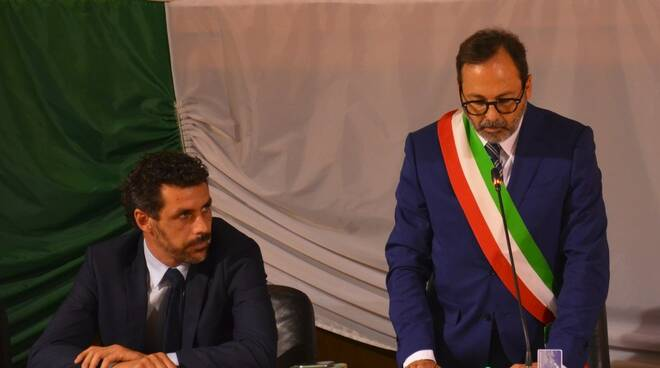 L'ex-vicesindaco Guido Mottini e il sindaco Francesco Persiani
