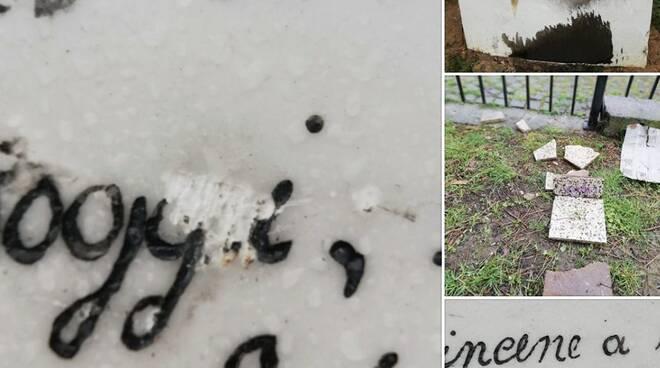 La stele ai Quercioli nuovamente vandalizzata