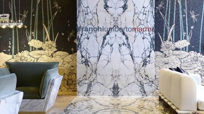 Lo stand della Franchi Umberto Marmi al Salone del Mobile di Milano