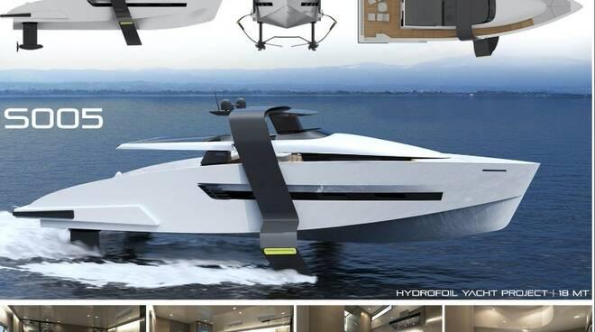 Lo yacht S005 di Sebastian Borzoni, vincitore nella categoria esordienti del 16° Myda