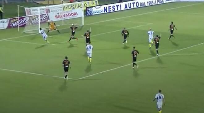 Il gol di Cardoselli al Pisa