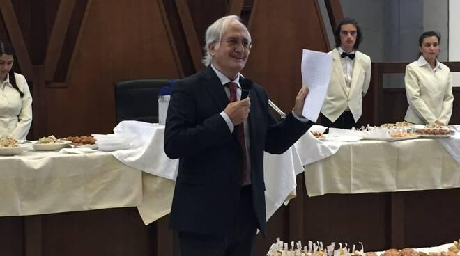 Il procuratore capo uscente Aldo Giubilaro durante il suo discorso di commiato